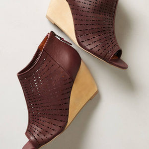 Schuler & Sons Shoes - Anthropologie Open Toe Wedge Booties Shoes